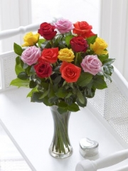 Elegant Mixed Rose Vase