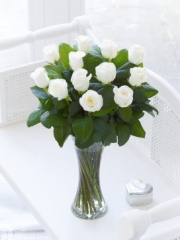 Elegant White Rose Vase